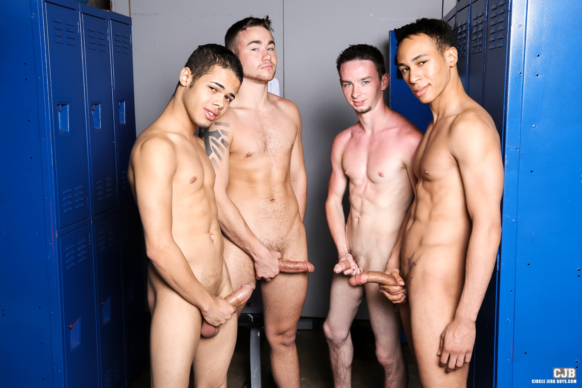 Hung College Jock Amazing the boys are back in the locker room dressing down before the big