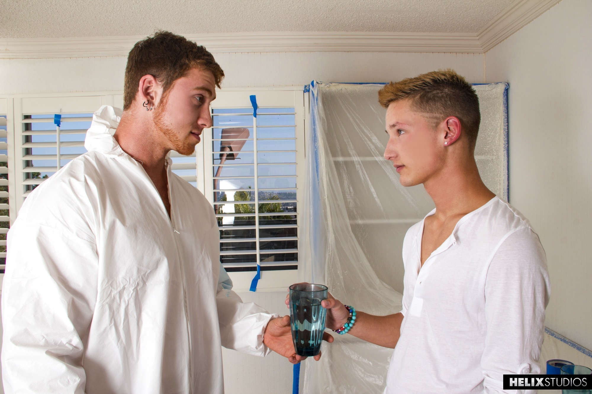 New super hot jock Connor Maguire is doing some house painting for blond  twink Casey Tanner